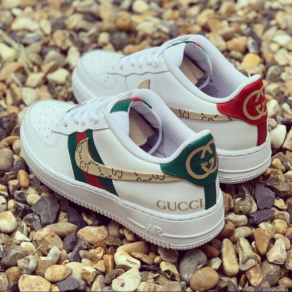 Custom painted Gucci nikes